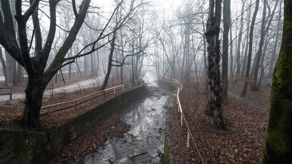 creative walk: river isar in the fog